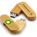 Wood Swivel Custom Flash Drives