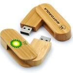 Wood Swivel Custom Flash Drives