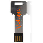 Metal Key USB Drive with logo print or engraving.