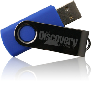 Onyx Swing-Out USB Drives with logo laser engraved