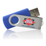 Custom swivel USB flash drive