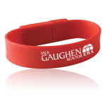 Wristband USB Flash Drive with custom logo print.