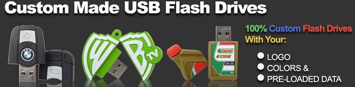 This image shows some of our cool custom made flash drives.  We can make USB flash drives in any shape you want - to look like your product, your logo, your school mascot, anything!  BestCustomFlashDrives.com has been creating fun, creative and cool custom USB flash drives since 2005 and we have thousands of happy customers.  You can trust us with your brand.