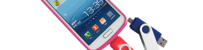 Smartphone USB Flash Drive with Micro USB Port
