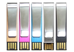 Metal Clip Custom Flash Drive available colors