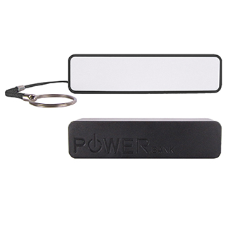 customized portable phone charger black