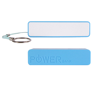 Customized portable phone charger blue