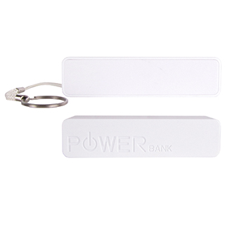 customized portable phone charger white