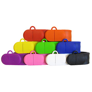 custom slap bracelet usb flash drive colors