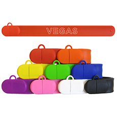 slap bracelet usb flash drive with custom logo print