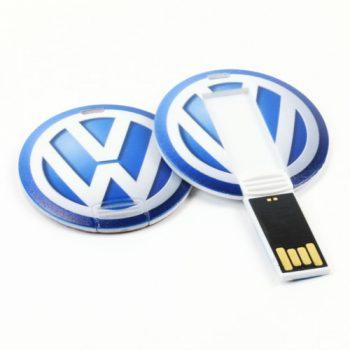 Round Thin USB Flash Drive Custom
