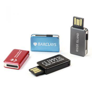Custom Printed Retractable Mini USB Drive